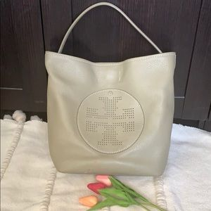 Tory Burch Perforated Logo Hobo